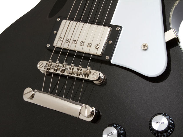 Epiphone Black Royale Les Paul (bridge)