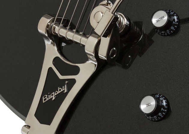 Epiphone Black Royale Emperor Swingster (bridge)