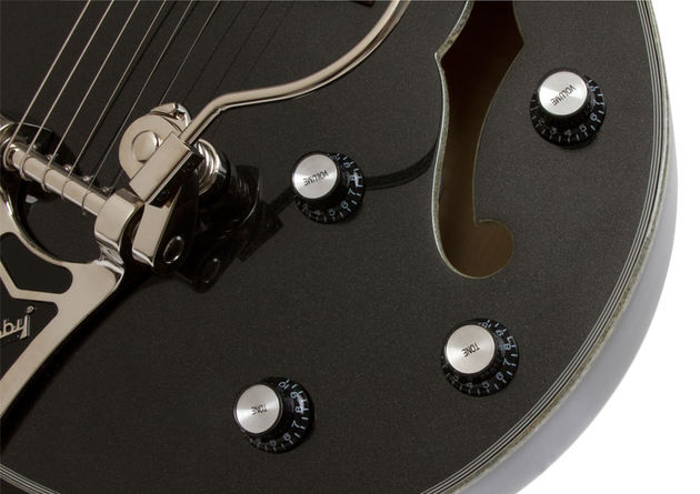 Epiphone Black Royale Emperor Swingster (controls)