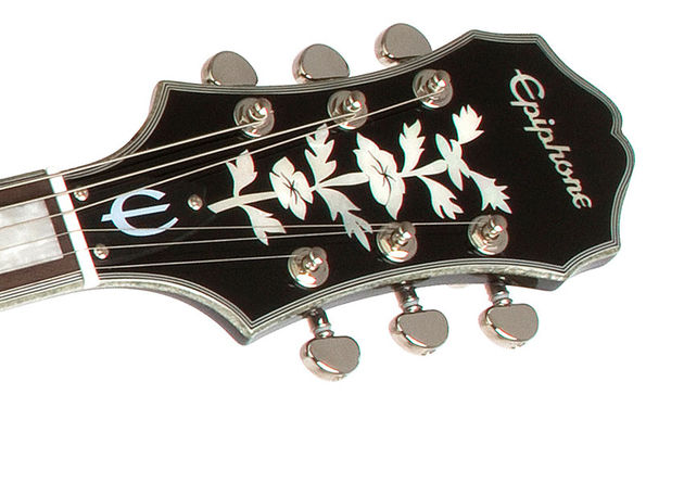Epiphone Black Royale Emperor Swingster (headstock)