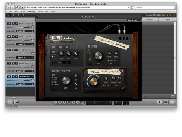 Soundation Studio: try it for free; pay a subscription fee for full access.