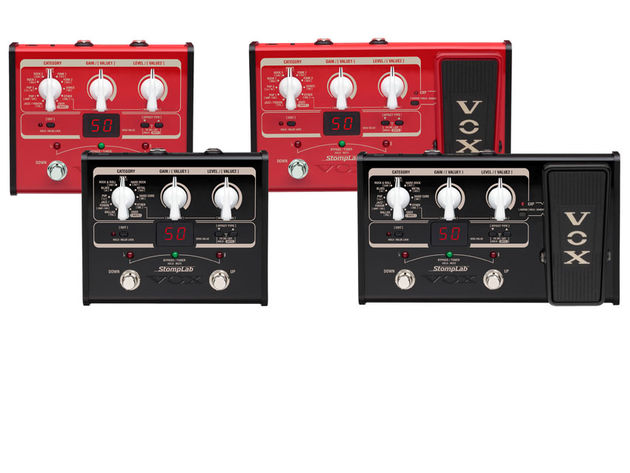 There are four models in total: the guitar-focussed StompLab IG and IIG (black) and the IB and IIB (red) for bassists.