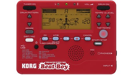 The Korg Beat Boy contains 100 rhythms.