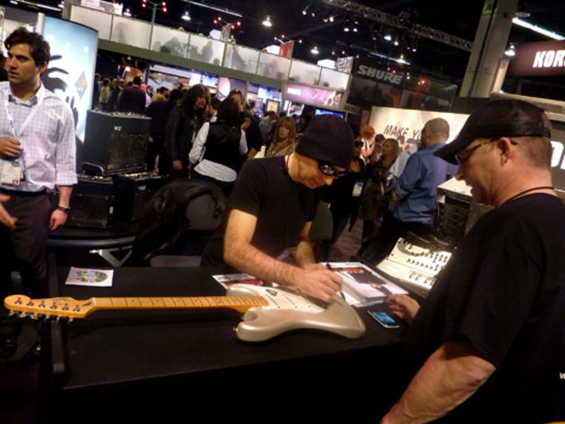 Joe Satriani signing event