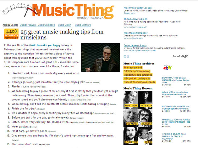 Get your tips fix at MusicThing.