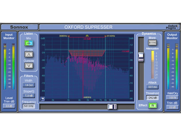 The SuprEsser puts de-essing and EQ in one plug-in.