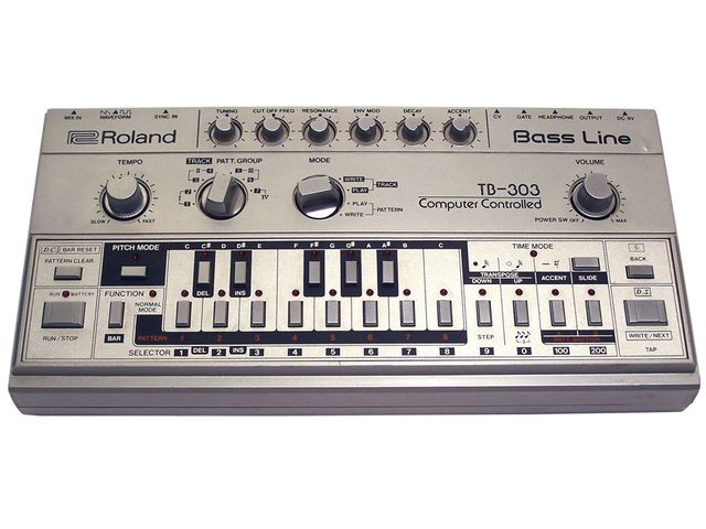 Roland's TB-303 is an iconic bass synth.