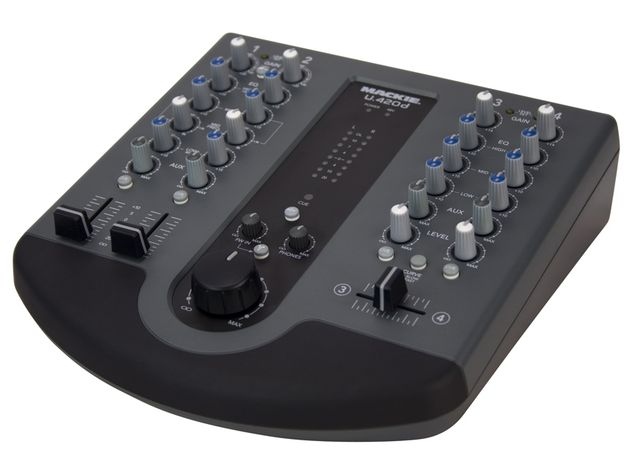 The U.420d gives you mic and stereo line input channels.