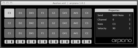 AirPiano software