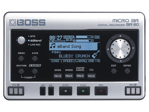 The built-in USB port means that the BR-80 can be used as an audio interface.