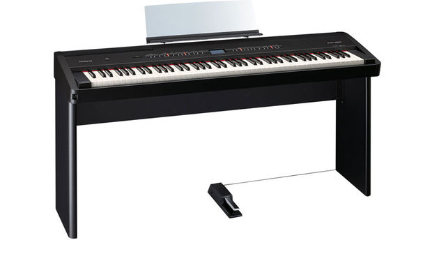The brand new Roland FP-80 digital piano, due to be unveiled at Musikmesse 2013