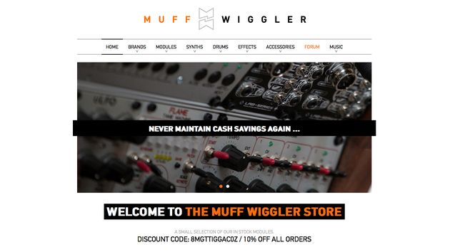 The MuffWiggler Store is open for business.