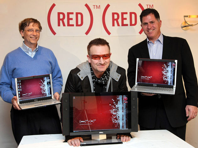 Bono has enlisted the likes of Microsoft and Dell to his RED campaign.