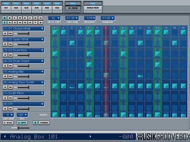 WusikGrooveBox lets you construct pattern-based songs.