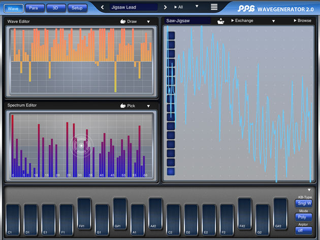 Multiple ways to create new wavetables