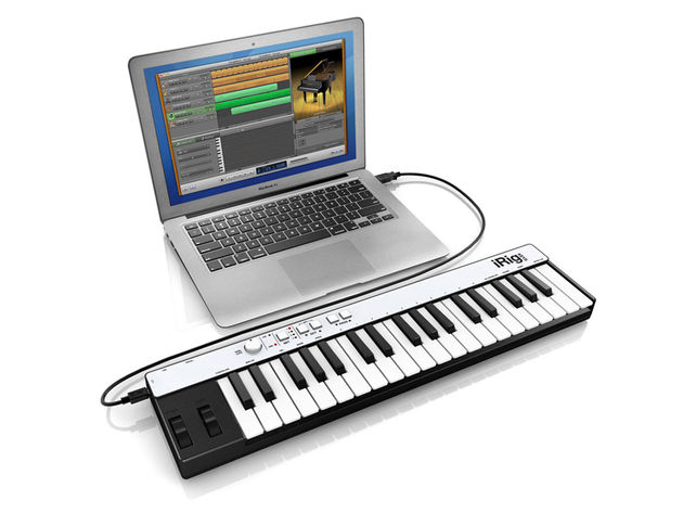 iRig Keys can also serve as a standard USB MIDI controller.