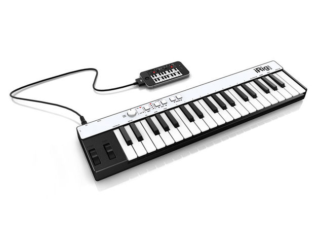iRig Keys plugs directly into your iPhone. Click through for more shots...