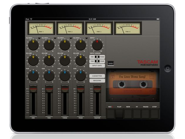 Portastudio for iPad: just like old times.