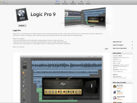 Apple Logic Pro 9 on Mac App Store for £140