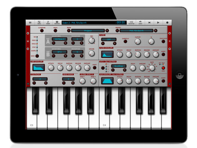 NanoStudio on an iPad: now that's something we've been looking forward to seeing.