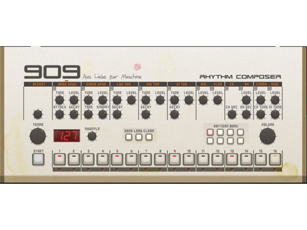 It's the 909 you can play in your web browser.