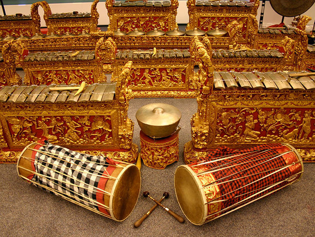 The Balinese Gamelan: try fitting one of these in your spare bedroom.