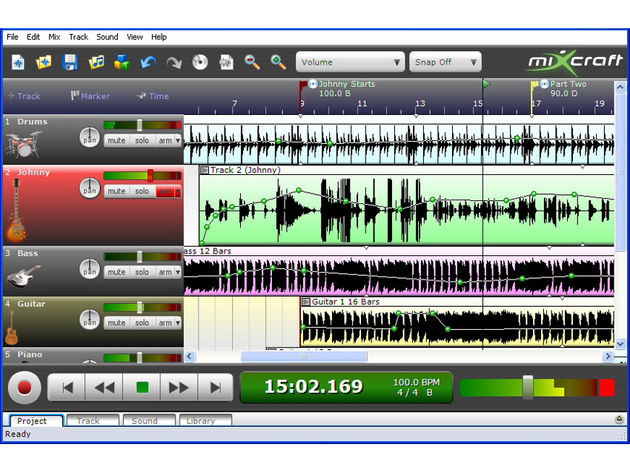You can now record audio and virtual instruments in Mixcraft.