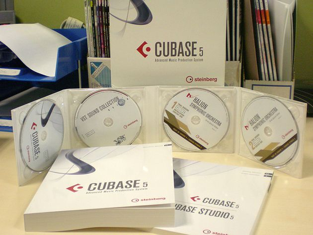 Cubase 5: The boxed version in the flesh.