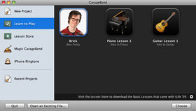 GarageBand '09 artist lessons