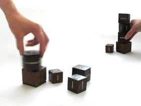 Wooden blocks used to control music
