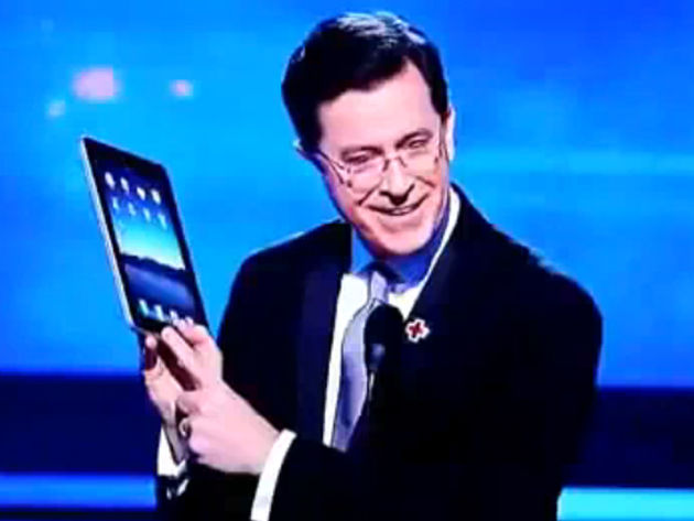 Stephen Colbert: not a beta tester, presumably.