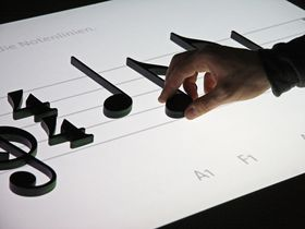 Noteput: next-gen music notation on a table