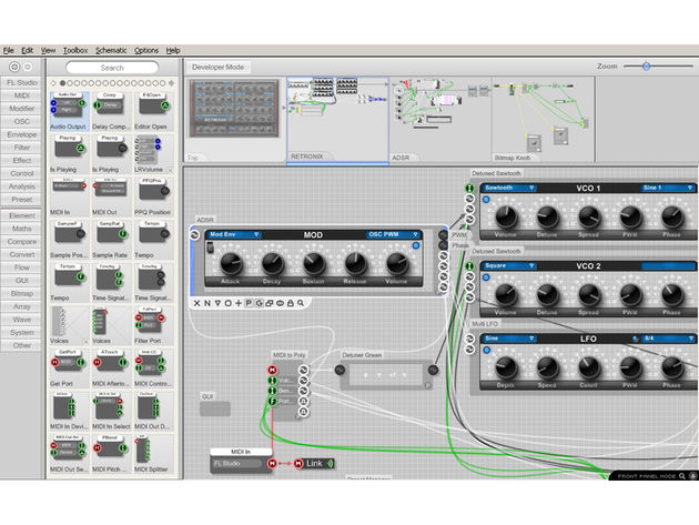 FL SynthMaker features an accessible graphical interface.