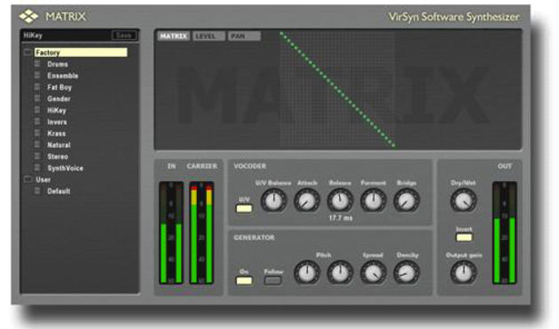 Enter the Matrix: VirSyn thinks that it's put a new spin on the vocoder concept.