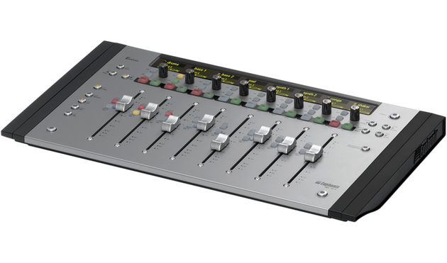 Each of the MC Mix's eight channels features a motorised fader and rotary encoder.