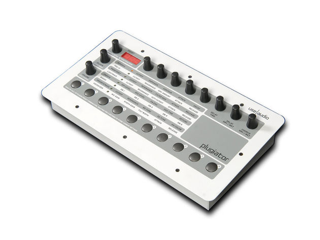 Eight knobs enable you to tweak your currently-loaded synth's parameters.