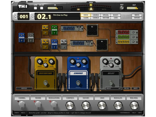 Overloud's TH-1 has a graphic 'virtual' interface