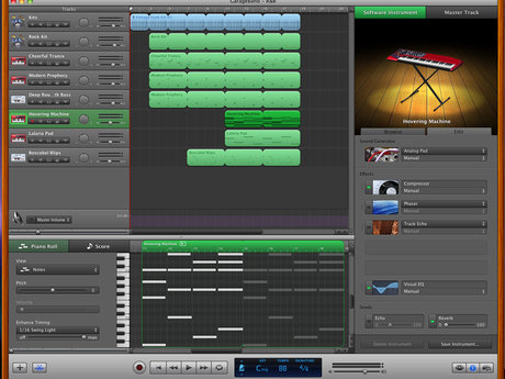 GarageBand '09 main screen