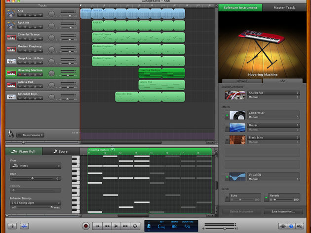 GarageBand now has a more Logic-like look.