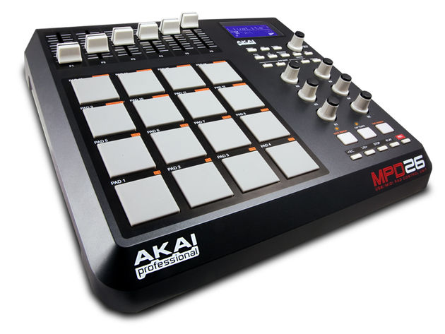 Akai MPD26: each of its pads can hold four different sounds.