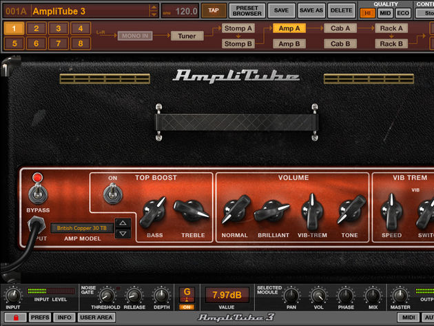 "AmpliTube 3 is billed as ""ultimate tone gear collection for players, producers and engineers"""