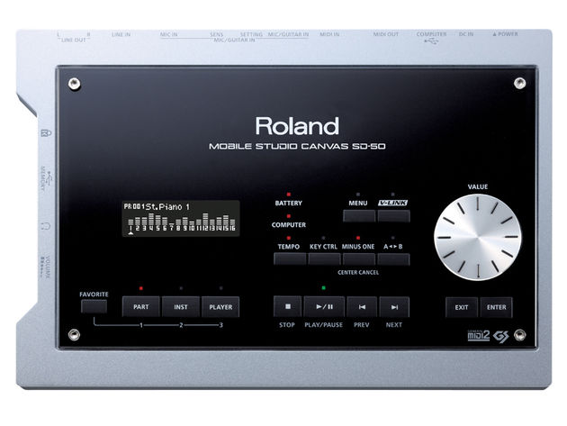 The Mobile Studio Canvas bears the Roland name.