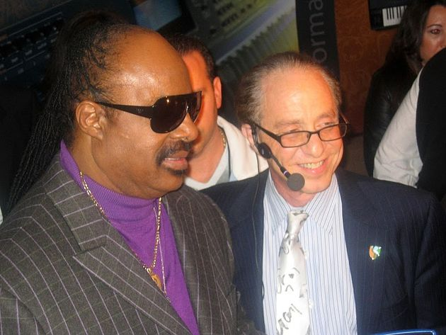 Stevie Wonder with Ray Kurzweil at NAMM 2010.