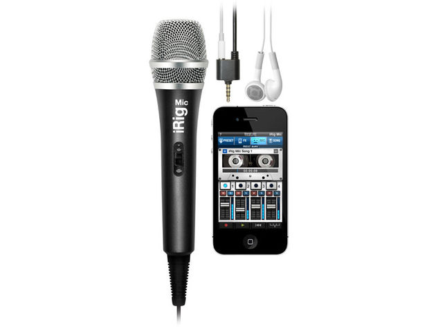 Sing into your iPhone with the iRig Mic.