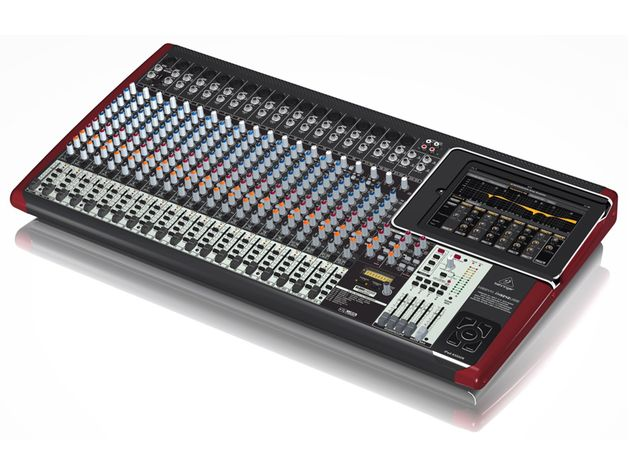 The Behringer iX3242USB. iX series mixers include a built-in iPad docking station.
