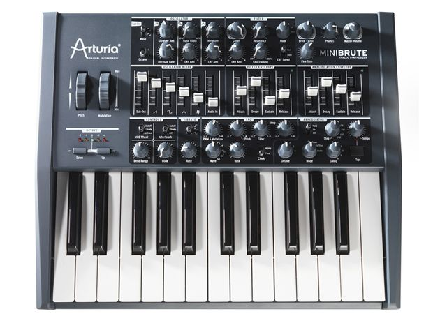 Arturia Minibrute: here to beat your sounds into shape. Clicl the image for more product photos.