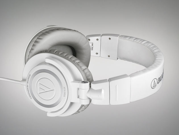 Whiter than white (until you get in the club, anyway): Audio-Technica's new ATH-M50WH.