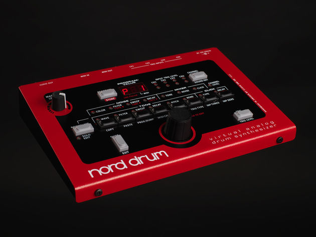 The Nord Drum: synthetic beats are its forte. Click the image for more photos.
