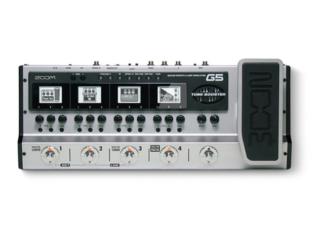 Zoom's G5: effects and amps in a pedalboard.