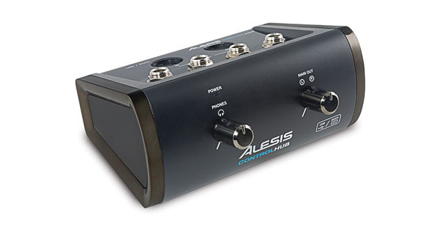 The Alesis Control Hub offers a MIDI input and output as well as stereo jack outputs